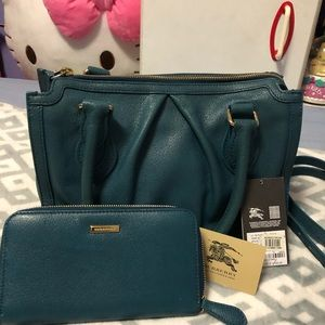Burberry Bags - Authentic Burberry satchel and matching wallet